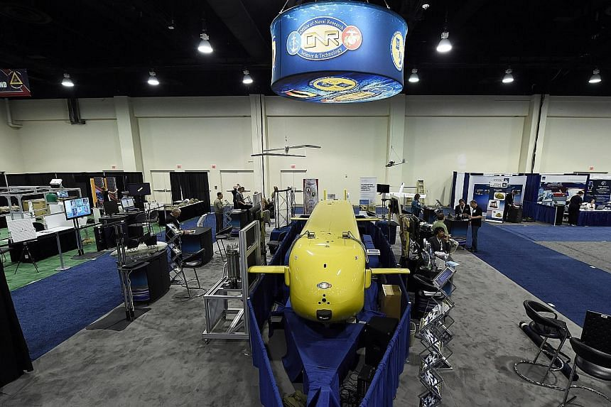 A prototype of the US Navy's Large Displacement Unmanned Underwater Vehicle.