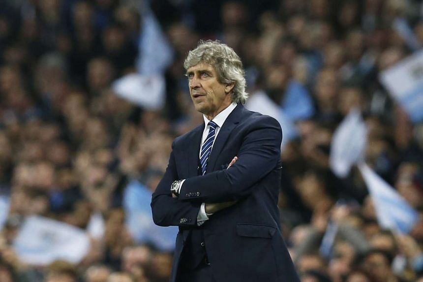 Manuel Pellegrini reacts during the Uefa Champions League Quarter Final Second Leg football match between Manchester City and Paris St Germain.