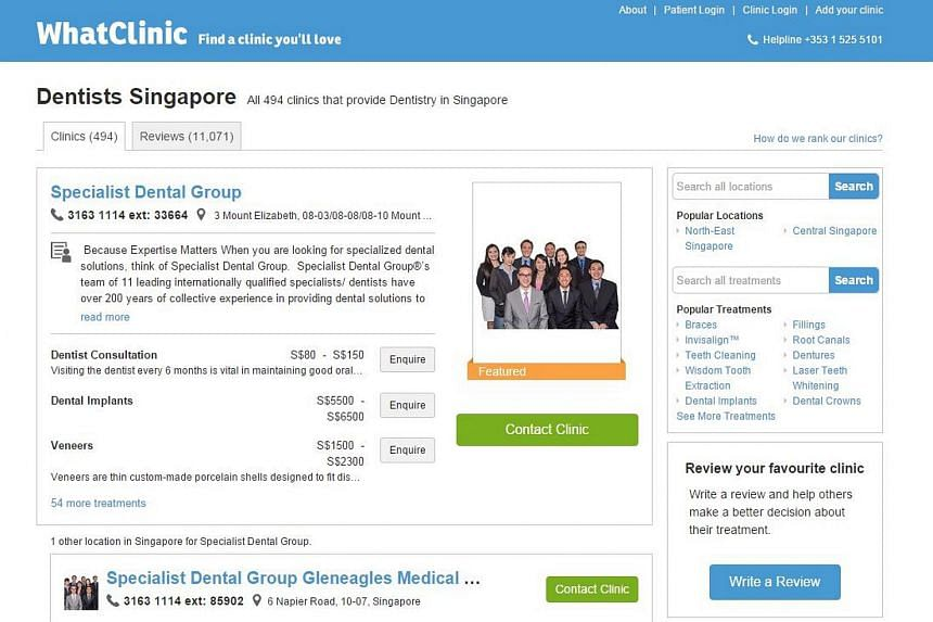 WhatClinic.com said they would start to roll out real-time booking technology for dental patients in Singapore.