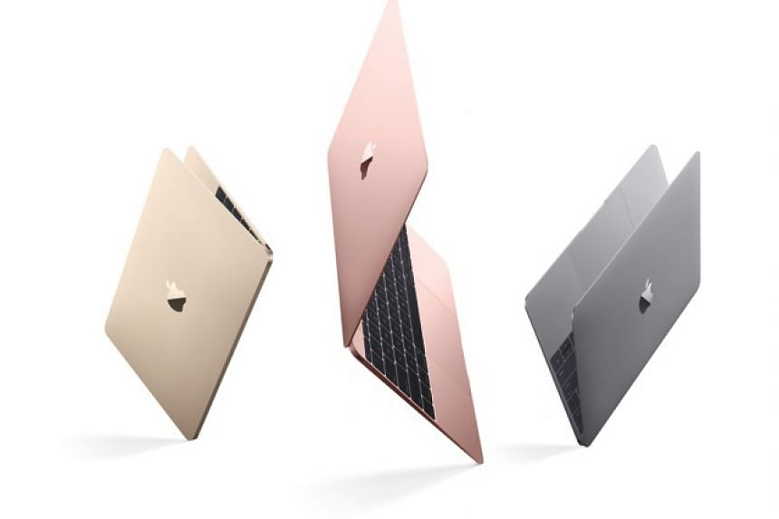 The updated 12-inch MacBook with the latest Intel Skylake processors, and in rose gold.