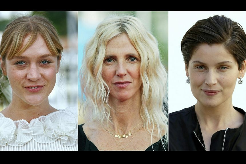 From left, US actress Chloe Sevigny, French actress Sandrine Kiberlain and French model and actress Laetitia Casta, who will make their directorial debuts at Cannes.