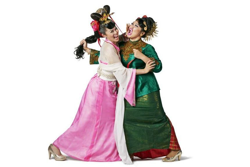 Judee Tan and Siti Khalijah Zainal (both above) star in Meenah And Cheenah; and Nur Suhaili Safari Wijaya and Grace Kalaiselvi in Mother I – Amma Naan – Ibu Aku.