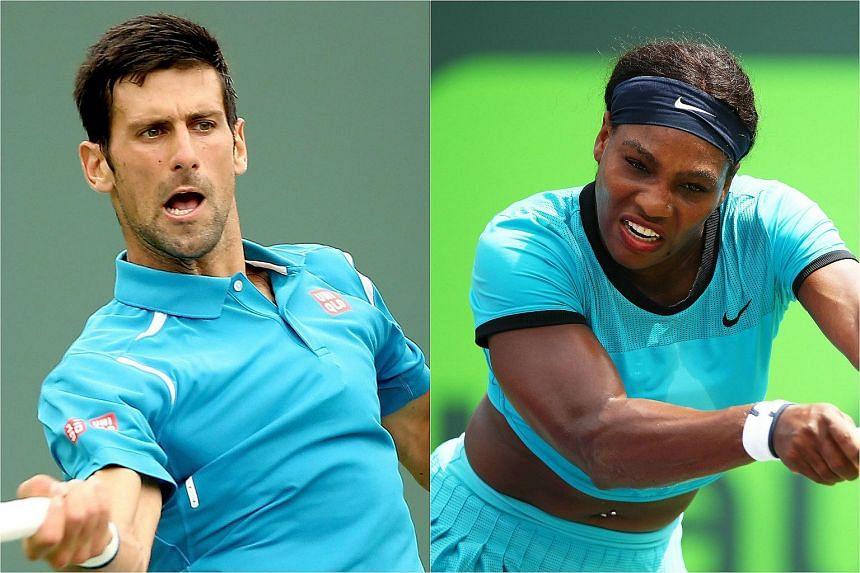 Tennis players Novak Djokovic (left) and Serena Williams won the Laureus World Sports Awards.