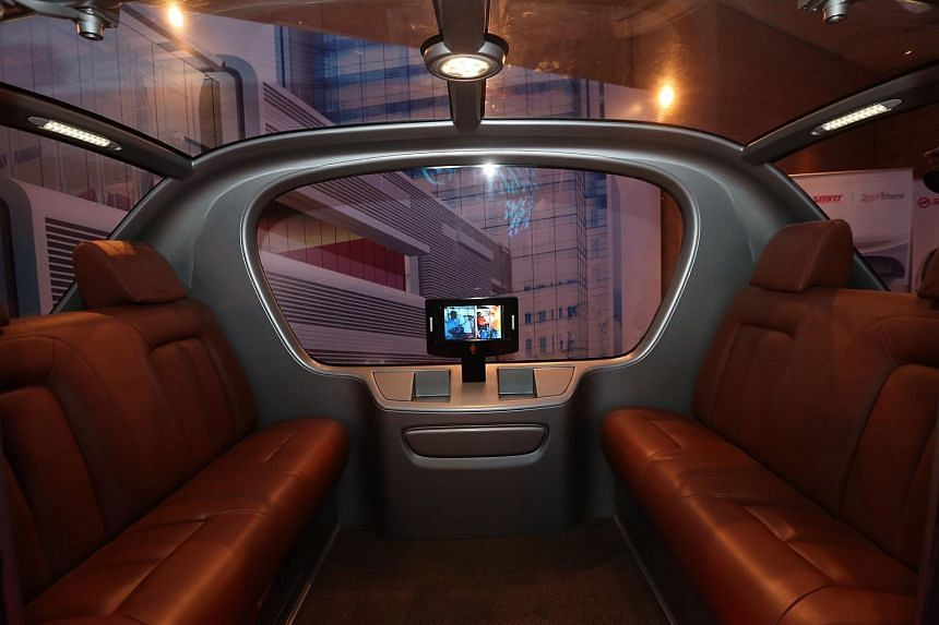 The interior of the Automated Vehicle.