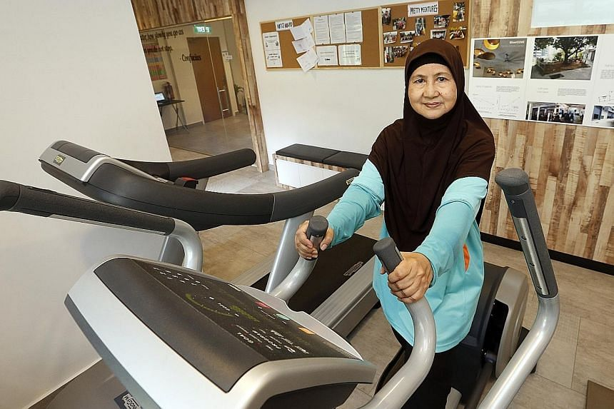Madam Salmah has been visiting the SilverCove centre five times a week since it opened in September last year. The centre boasts a senior-friendly gym, offers health and dental check-up services and hosts an array of activities, like karaoke sessions