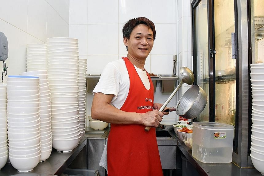 Mr Goh, who is also selling fish soup at Ci Yuan hawker centre, said he has learnt a new recipe because of the programme. He is also happier with the working conditions at Ci Yuan.