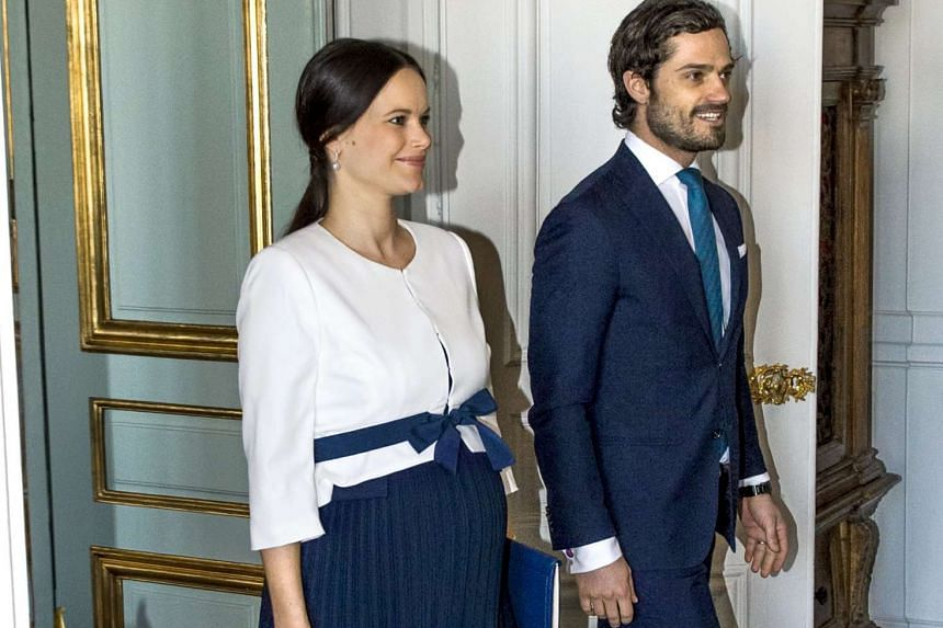 The Swedish Royal court announced on April 19 that Princess Sofia has given birth to a healthy child. She is seen here with Prince Carl Philip in Stockholm, Sweden, on March 10, 2016.