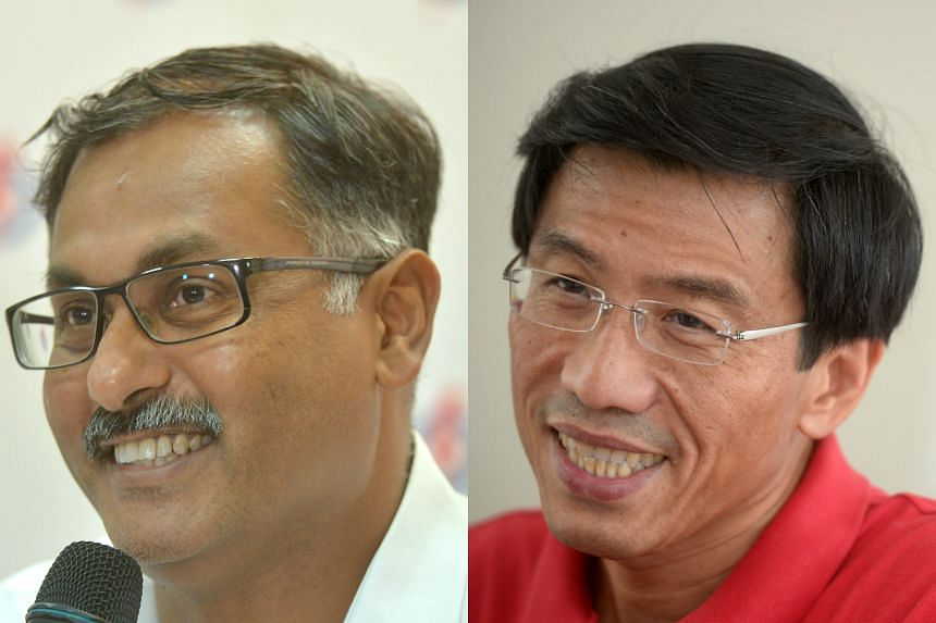 The PAP's Murali Pillai (left) and SDP secretary-general Chee Soon Juan will be running in the by-election.