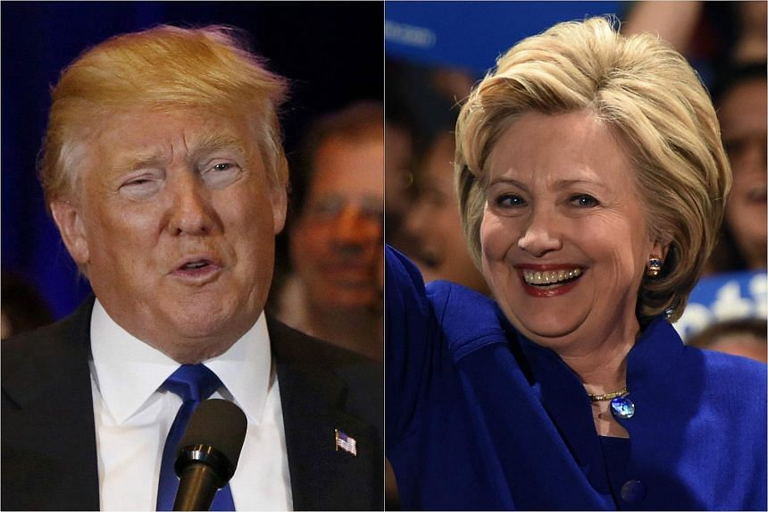 US Republican presidential candidate Donald Trump (left) and Democratic front runner Hillary Clinton.