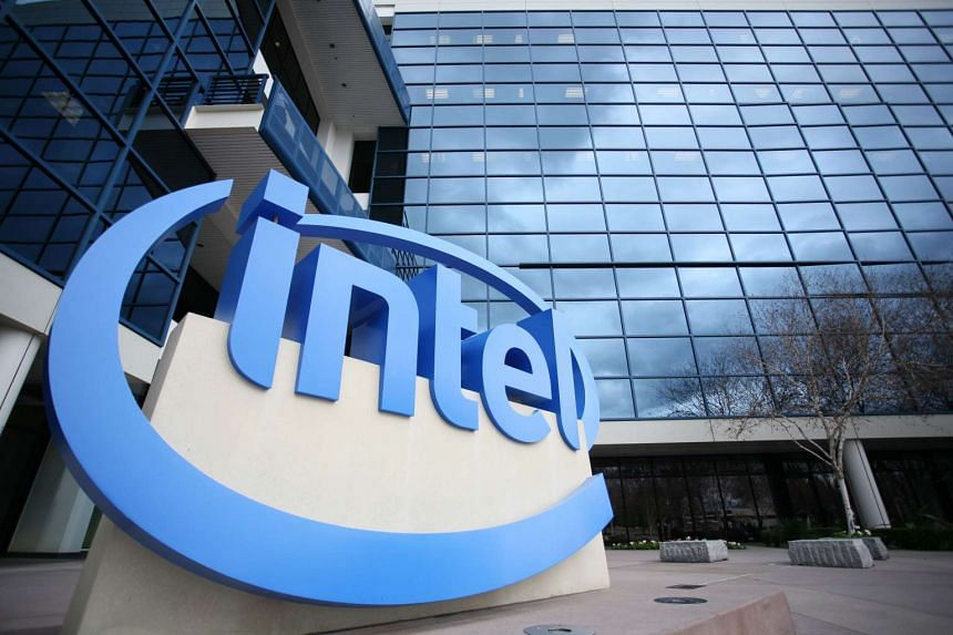 Tech giant Intel's campus in Santa Clara, California.
