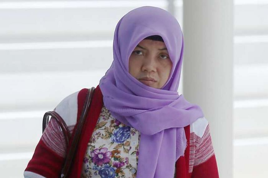 """Indonesian domestic worker Ms Khanifah (pictured) said she did not ask for help from immigration officers at the airport as she was """"already happy that I am going home and leaving the devil's house""""."""