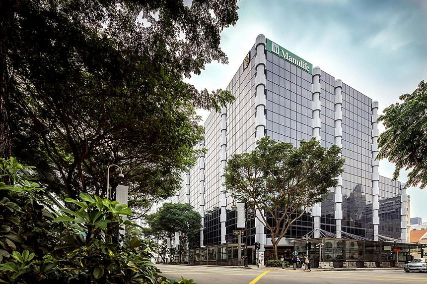 The Manulife Centre at Bras Basah Road.