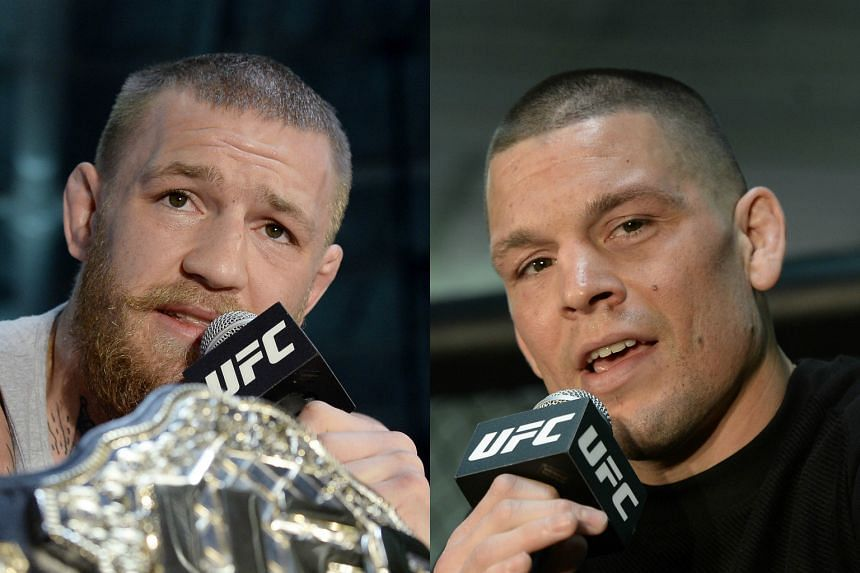 Conor McGregor (left) and Nate Diaz both posted cryptic retirement announcements on their respective Twitter accounts.