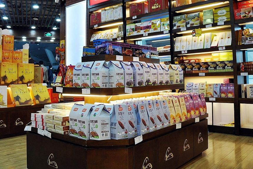 China Food Star's sweet potato snacks in a convenience store at Xiamen Railway Station in Fujian, China. About a quarter of the $5.8 million raised in the Chinese company's placement exercise will be used to buy machinery and equipment for a third fa