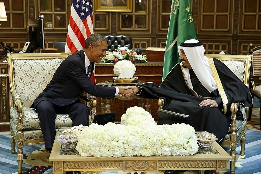 US President Obama went straight from the Riyadh airport to the Erga Palace for bilateral talks with King Salman. The US leader is in Saudi Arabia to attend a summit of Gulf leaders.