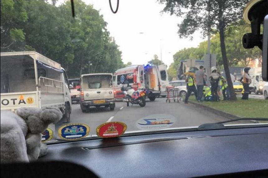 An eyewitness said a bus, a lorry and a car were involved in the accident.