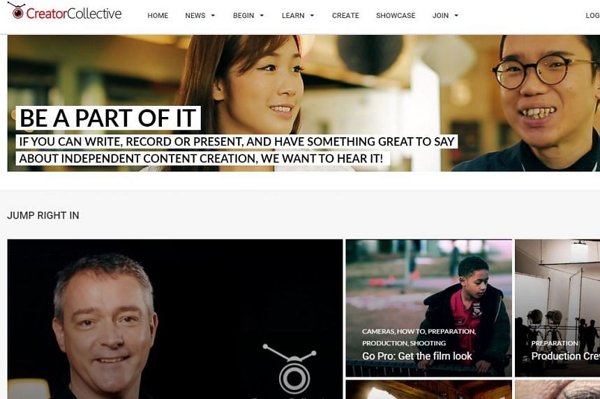 A screengrab of the Creator Collective website.