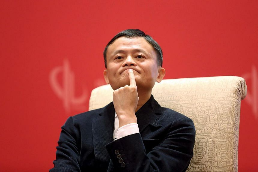 Founder and Executive Chairman of Alibaba Group Jack Ma meets Facebook founder and CEO Mark Zuckerberg (not pictured), at the China Development Forum in Beijing.