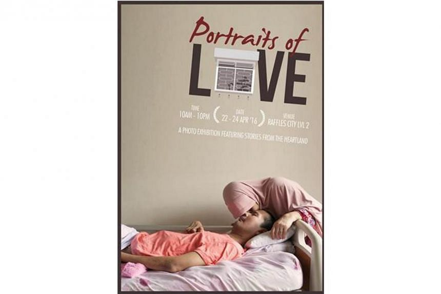 """Home Nursing Foundation will start its 40th anniversary celebrations with a photo exhibition called """"Portraits of Love"""" at Raffles City shopping centre."""