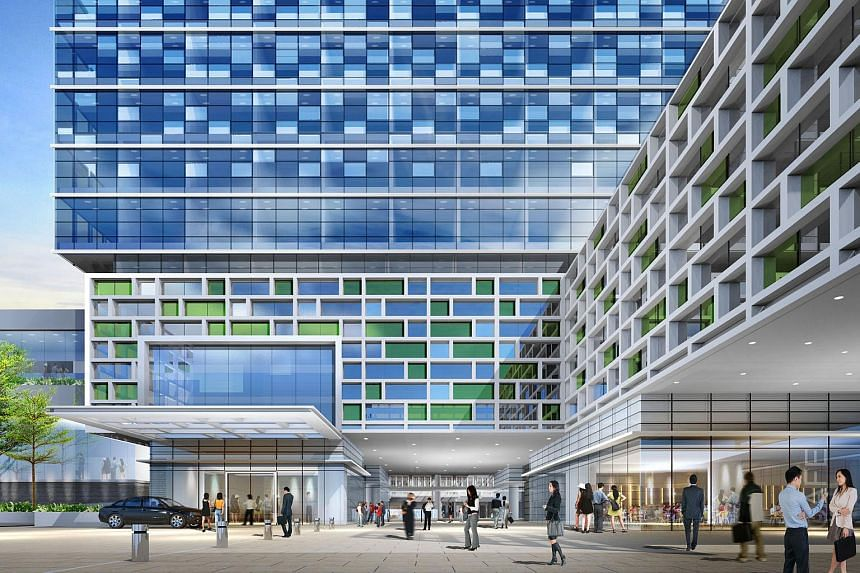 An artist's Impression of the proposed Capri by Fraser hotel at China Square Central.