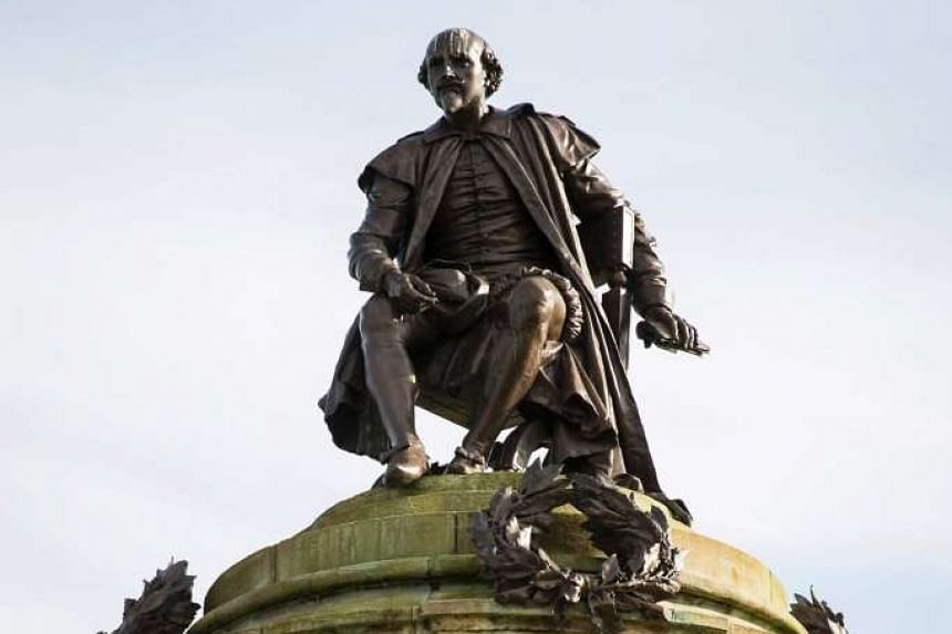 A statue of William Shakespeare in Stratford-upon-Avon, the playwright's birthplace in England. Shakespeare's works have a universal appeal that transcends barriers of time and geography.