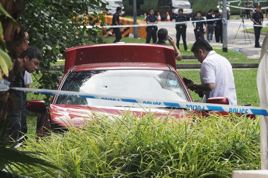 Despite repeated warnings to stop his car, Mohamad Taufik Zahar accelerated the vehicle, crashing it through a concrete security barrier.