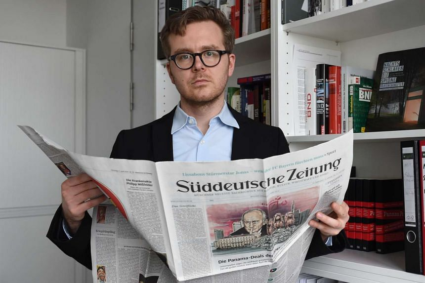 """German journalist Frederik Obermaier, co-author of the """"Panama Papers"""" investigation, posing on April 7, 2016 in Munich, Germany."""