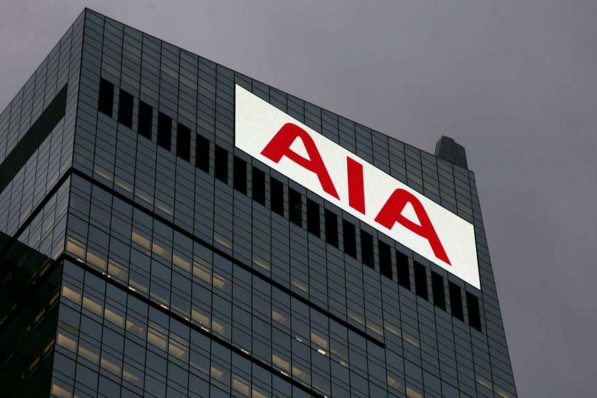 The company logo displayed on AIA Central at the financial Central district in Hong Kong, China.