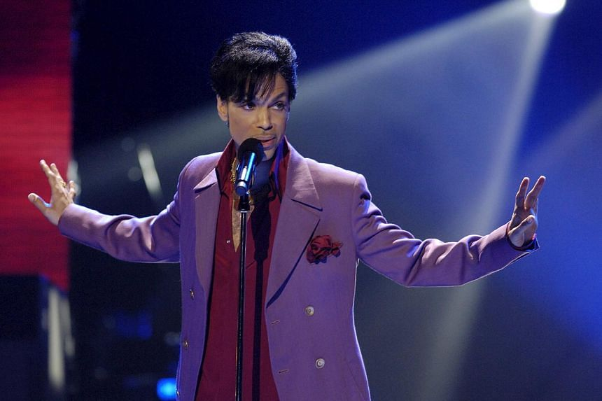 Prince performing in a surprise appearance on the American Idol finale in Hollywood, Los Angeles, on May 24, 2006.
