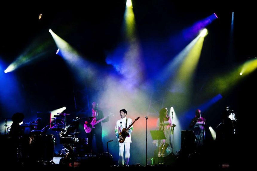 US singer Prince performs on stage in concert at the Roskilde Festival, Denmark on July 4, 2010.