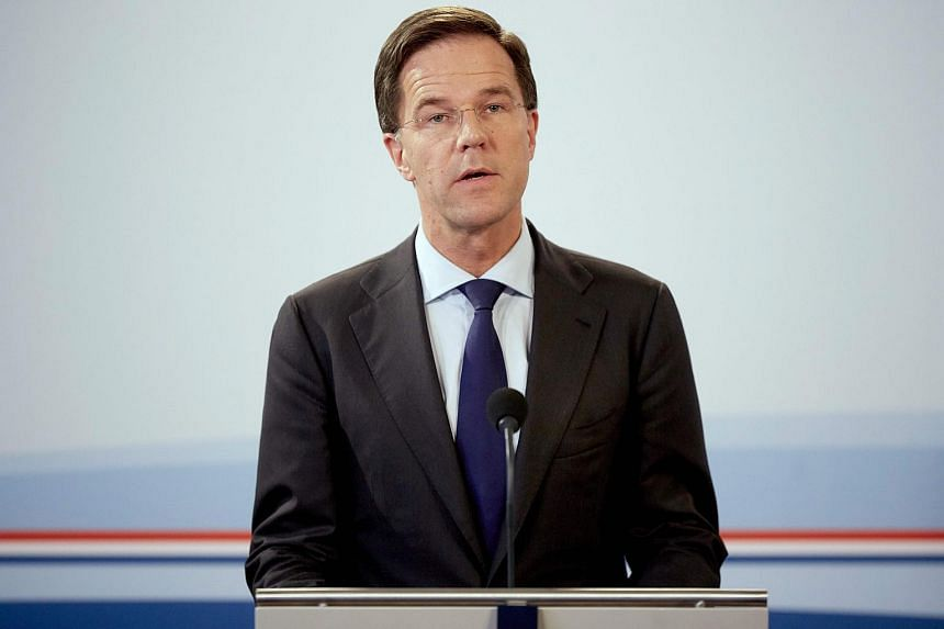 Dutch Prime Minister Mark Rutte speaks during a statement following the Ministerial Committee on Crisis Management, on March 22, 2016.