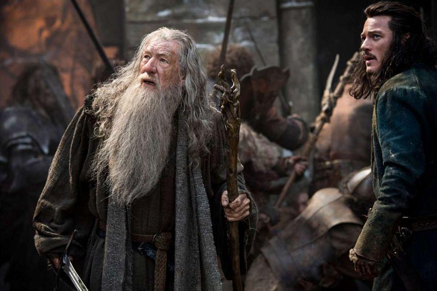 Cinema still: The Hobbit: The Battle Of The Five Armies, starring Ian Mckellen.