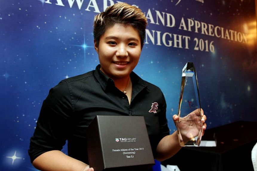 Tao Li was crowned the female Athlete of the Year (swimming) at the Singapore Swimming Association (SSA) awards and appreciation night.