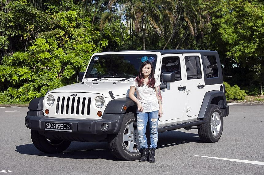 Ms Rivy Soh likes the distinctive look of the Jeep Wrangler Unlimited, as well as its height.
