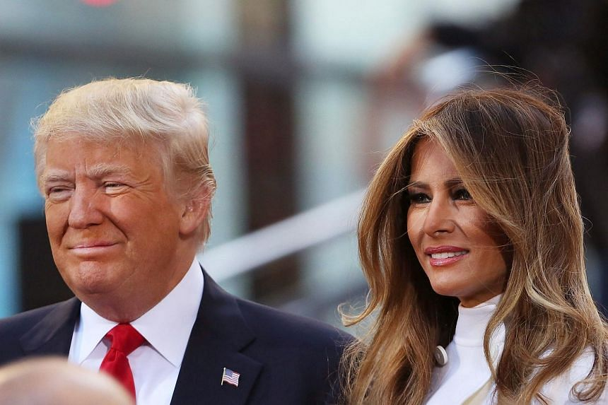 US Republican presidential candidate Donald Trump sitting with his wife Melania Trump while appearing at an NBC Town Hall at the Today Show on April 21, 2016.
