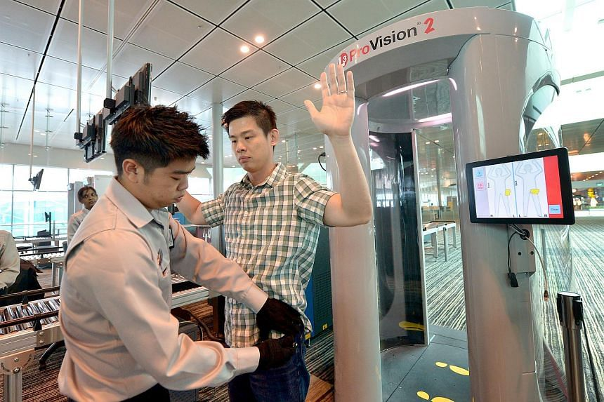 The new body scanner is the latest to be tested after three earlier trials by Changi.