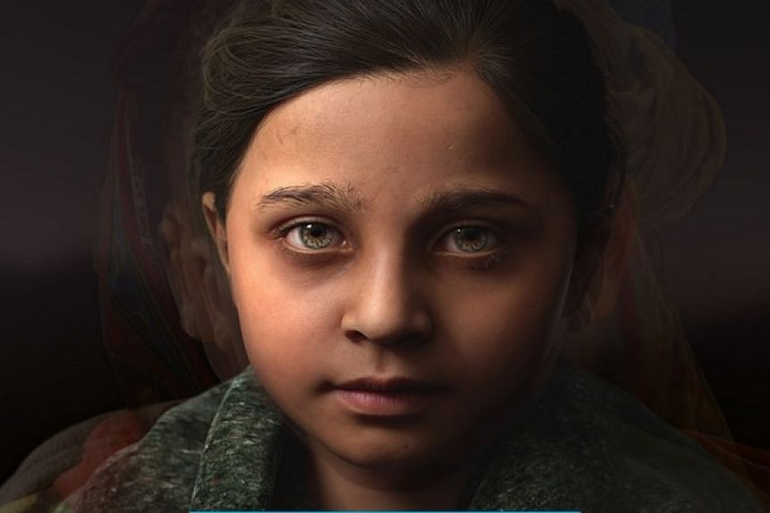 Sofia was modelled on the faces of hundreds of child victims of war.
