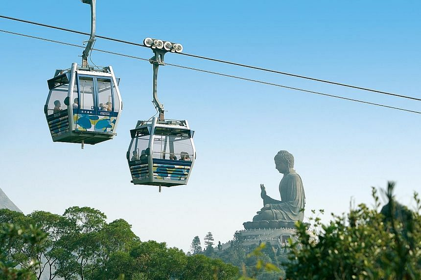 Hong Kong attractions such as Ngong Ping 360 (above) are offering family packages during the Singapore school holidays.
