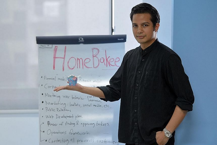 Mr Edward says his HomeBakee website connects home bakers with buyers.