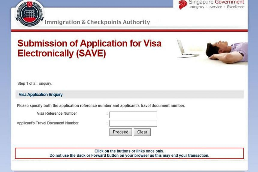 Earlier this month, the Immigration and Checkpoints Authority warned the public of a fake website (left) that had been phishing for visitors' visa reference and passport numbers.