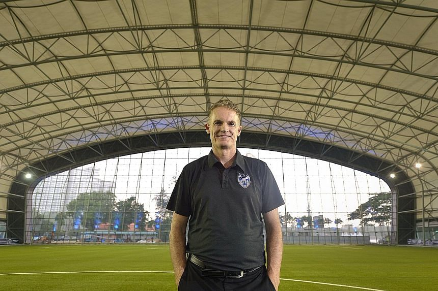 JDT sports director Alistair Edwards at an indoor astro turf pitch, part of the first team's new RM15 million training facility.