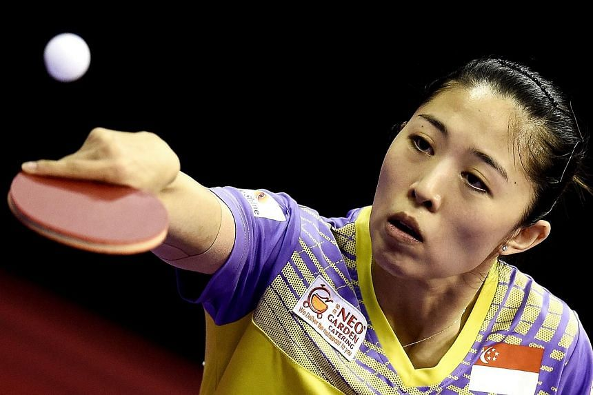 Singapore's Yu Mengyu upset Japan's Kasumi Ishikawa to reach the finals of the Poland Open on April 24, 2016.