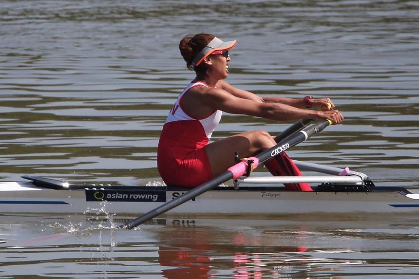 File photo of Singapore's Saiyidah Aisyah at the 17th Asian Games Incheon 2014 Lightweight Women's Single Sculls Final A event.