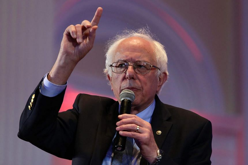 US Democratic presidential candidate Bernie Sanders addresses a Community Conversation on Young Men of Color event in Maryland, on April 23, 2016.
