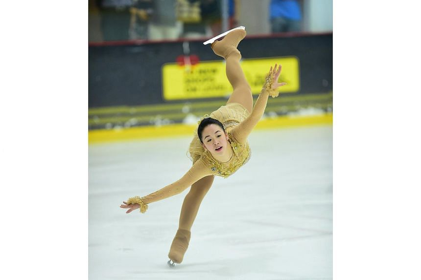 Chloe Ing, pictured here in 2015, won her second champions trophy in the Singapore National Figure Skating Championship.