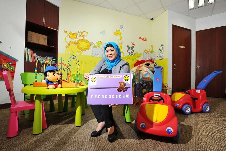 Ms Firdawati Masri, 33, has been a child protection officer for the past 10 years. She has seen some serious abuse cases, such as a six-year-old girl who was burned with a heated metal spoon by her father and an 11-year-old girl who was made to live