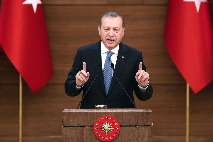 A Dutch journalist was arrested on Sunday (April 24) at her home in Turkey for tweets deemed critical of Turkish President Recep Tayyip Erdogan (above).
