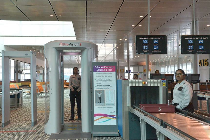 A  new body scanner that uses millimetre wave technology is part of Changi Airport ongoing efforts to enhance security.