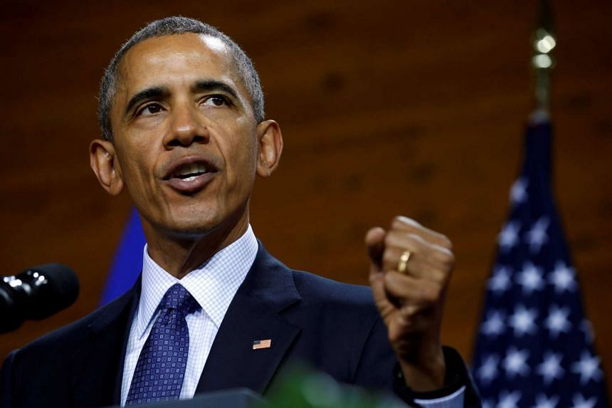 US President Barack Obama delivers a speech during his visit to Hanover, Germany on April 25, 2016.