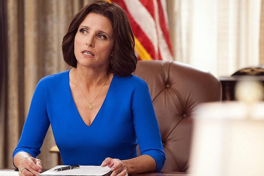 Seven-time Emmy winner Julia Louis-Dreyfus (above) thinks political comedy Veep has become more true to life, given the current US political climate.